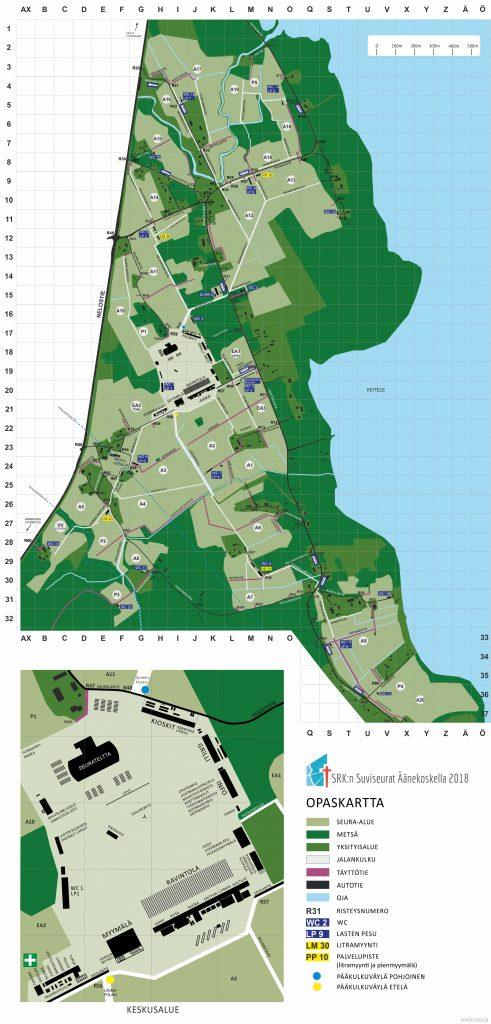 Suviseura-alueen kartta